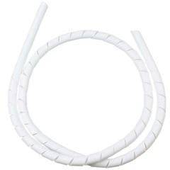 """Organizador de Fios em Espiral 1"""" 24mm X 1 Metro Branco - Kit-Flex"""