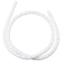 """Organizador de Fios em Espiral 1/2"""" 12mm X 1 Metro Branco - Kit-Flex"""
