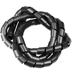 """Organizador de Fios em Espiral 1/2"""" 12mm X 1 Metro Preto - Kit-Flex"""
