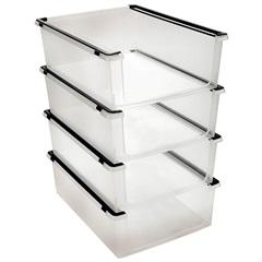Organizador Multiúso Empilhável My Closet 25,6x35,7cm Transparente - Ordene