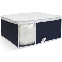 Organizador para Edredons com Visor 40x48x20cm Azul - Boxgraphia