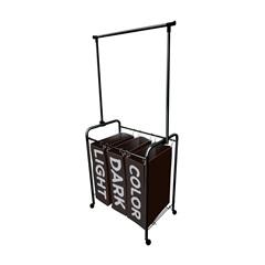 Organizador para Roupas Black com 3 Cestos Preto 85x75cm - Secalux