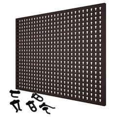Painel em Aço para Ferramentas com 24 Ganchos Plásticos 59,5x74,5cm Cinza - Presto