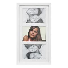 Painel Insta para 3 Fotos com Paspatur 18x38cm Branco - Kapos