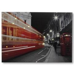 Painel Led Canvas Double Decker 70x50cm Vermelho - Casa Etna