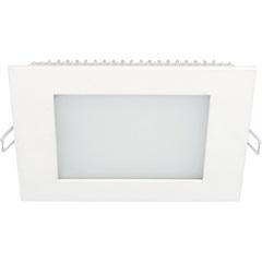 Painel Led de Embutir Quadrado 12w Autovolt 17cm 3000k Luz Amarela