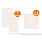 Painel Led de Sobrepor Quadrado 24w Bivolt Branco 6000k Luz Branca