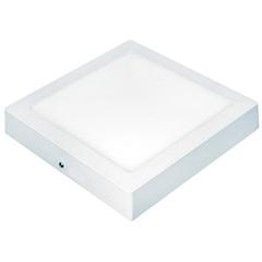 Painel Led de Sobrepor Quadrado Lux 18w Autovolt Branco 22cm 3000k Luz Amarela - Taschibra