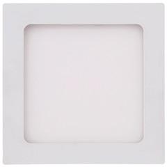 Painel Led Quadrado de Embutir 12w Bivolt 17cm Branco 6500k Luz Branca - Brilia