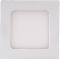 Painel Led Quadrado de Embutir 6w Bivolt 12cm Branco 3000k Luz Amarela - Brilia