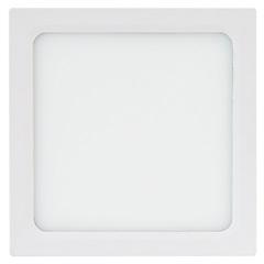 Painel Led Quadrado de Sobrepor 24w Bivolt 30cm Branco 3000k Luz Amarela - Brilia