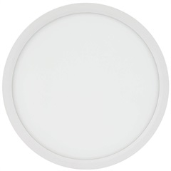 Painel Led Redondo de Embutir 24w Bivolt 29cm Branco 3000k Luz Amarela - Brilia