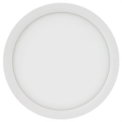 Painel Led Redondo de Sobrepor 18w Bivolt 22,5cm Branco 3000k Luz Amarela - Brilia