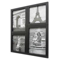 Painel Multifotos para 4 Fotos 24x29cm Preto - Kapos