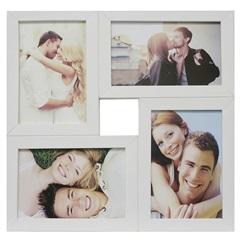 Painel Multifotos para 4 Fotos 29,5x29,5cm Branco - Kapos