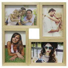Painel Multifotos para 4 Fotos 29,5x29,5cm Cerejeira - Kapos