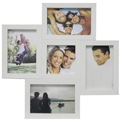 Painel Multifotos para 5 Fotos 37x37cm Branco - Kapos