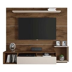 Painel para Tv 65'' Frevo Cacau E Off White 182x165cm - JCM Movelaria