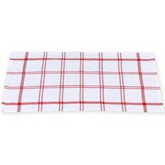 Pano Copa Simple 60x30cm Branco E Vermelho - Casa Etna
