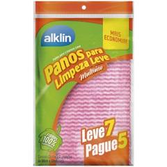 Pano para Limpeza Leve Pague 5 Leve 7 Rosa - Alklin