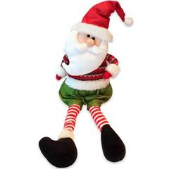 Papai Noel Decorativo Sentado 61x20cm Vermelho E Verde - Casanova