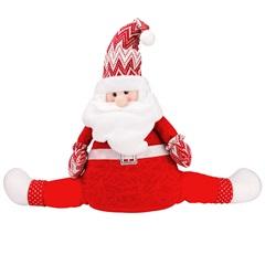 Papai Noel Decorativo Sentado 71cm Vermelho - Casanova