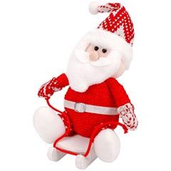 Papai Noel Decorativo Sentado No Trenó 23cm Vermelho - Casanova