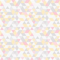 Papel de Parede 7447 Amarelo E Rosa 52cm com 10 Metros - Bobinex