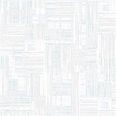 Papel de Parede Decor Moderno Texturizado Branco E Azul 0.53x10m - Colorful