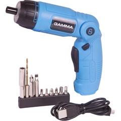 Parafusadeira a Bateria 3,6v 1/4'' G12104/Br Azul - Gamma