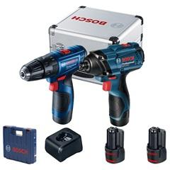 Parafusadeira E Furadeira a Bateria 12v 1/4'' E 3/8'' Gdr 120-Li E Gsr 120-Li Azul - Bosch