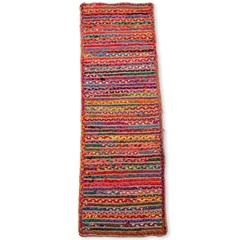 Passadeira Braided Algodão 160x50cm Colorida