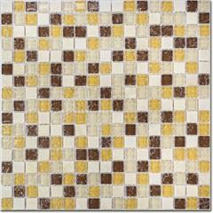 Pastilha Borda Bold Craquelada Bege E Amarela 29,5x29,5cm - Henry