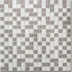 Pastilha Borda Bold Craquelada Branca E Cinza 29,5x29,5cm - Henry