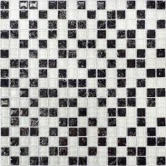 Pastilha Borda Bold Craquelada Preta E Branca 29,5x29,5cm - Henry