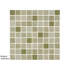 Pastilha Borda Bold Patchwork Verde 30x30cm - Henry