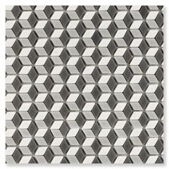Pastilha de Vidro Borda Bold Illusion Mix Matte Preto 30x30,2cm - Cerâmica Portinari