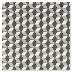Pastilha de Vidro Borda Bold Illusion Mix Matte Preto 30x30,2cm - Portinari