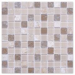 Pastilha de Vidro Elegance Sand Stone 29,5x29,5cm Bege - Glassline