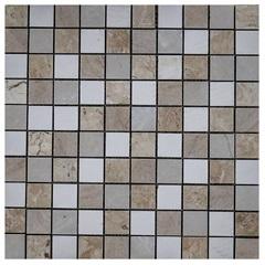 Pastilha em Porcelanato Mosaico Cc1801 Bege E Cinza 31,5x31,5cm - Anticatto