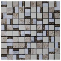 Pastilha em Porcelanato Mosaico Cc2010 Bege E Marrom 31,5x31,5cm - Anticatto