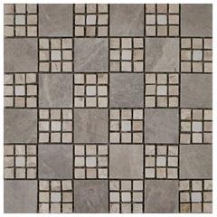 Pastilha em Porcelanato Mosaico Cc8018 Bege E Cinza 30x30cm - Anticatto