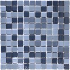 Pastilha em Vidro Ecológica Mescla Azul 30x30cm