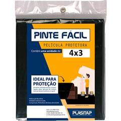Película Protetora Pinte Fácil 4x3m Preta - Plasitap