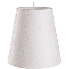 Pendente Cônico para 1 Lâmpada Safira Branco 33cm - LS Ilumina