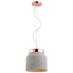 Pendente em Aço E Cimento para 1 Lâmpada Stove 25cm Cinza - Avant