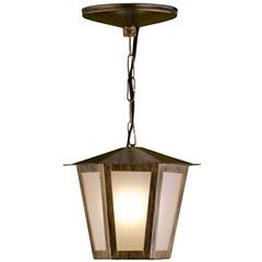 Pendente em Aço para 1 Lâmpada Colonial 34x19cm Ouro Velho - Ideal Iluminação