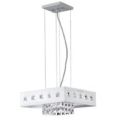Pendente em Acrílico para 1 Lâmpada Quadrado Viena 110v Branco - Bronzearte