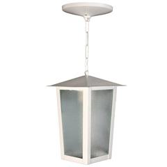 Pendente em Alumínio para 1 Lâmpada Colonial 37x15cm Branco - Ideal Iluminação