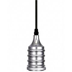 Pendente em Alumínio para 1 Lâmpada Dot Metal Wave Cromo - Taschibra
